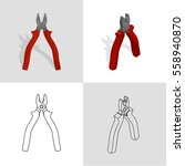 vector illustration. set of... | Shutterstock .eps vector #558940870