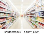abstract blur supermarket and...   Shutterstock . vector #558941224