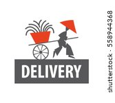 delivery sushi. vector logo. a... | Shutterstock .eps vector #558944368
