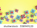 gift box on color background | Shutterstock . vector #558949120
