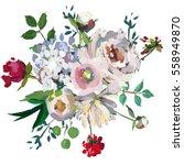 Pastel Floral Bouquet  Hand...