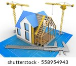 3d illustration of house... | Shutterstock . vector #558954943
