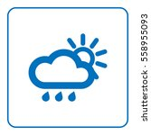 1 of 25 signs forecast weather. ... | Shutterstock . vector #558955093
