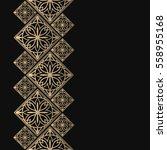 golden frame in oriental style. ... | Shutterstock .eps vector #558955168