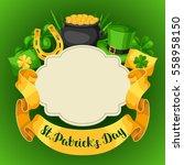 saint patricks day greeting... | Shutterstock .eps vector #558958150