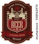 label beer with brewery in... | Shutterstock .eps vector #558963970