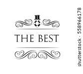 medal symbol badge. ribbon... | Shutterstock .eps vector #558966178