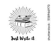 Stack Of Books. Writer Badge....