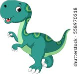 cute dinosaur cartoon | Shutterstock . vector #558970318