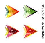 colorful vector option banner... | Shutterstock .eps vector #558971758