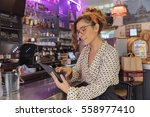 entrepreneur and owner of a... | Shutterstock . vector #558977410