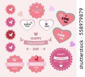 valentine's day. design design... | Shutterstock .eps vector #558979879
