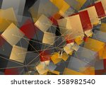 abstract modern background with ... | Shutterstock .eps vector #558982540