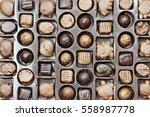 box of assorted chocolate... | Shutterstock . vector #558987778