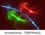 rendering fractal light... | Shutterstock . vector #558994663