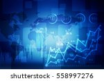 2d illustration stock market... | Shutterstock . vector #558997276