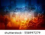 2d illustration stock market... | Shutterstock . vector #558997279