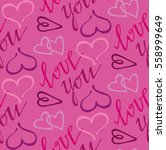 valentine's day pattern with...   Shutterstock .eps vector #558999649
