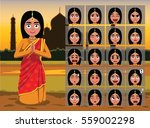 indian traditional woman... | Shutterstock .eps vector #559002298