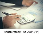 accounting. businessman with...   Shutterstock . vector #559004344