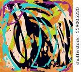 graffiti beautiful abstract... | Shutterstock .eps vector #559005220