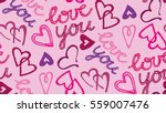 valentine's day pattern with...   Shutterstock .eps vector #559007476
