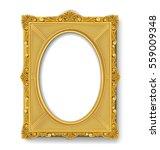 vintage gold picture frame | Shutterstock .eps vector #559009348