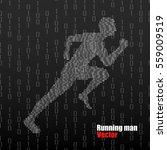 abstract silhouette running man ...   Shutterstock .eps vector #559009519