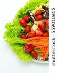 mix salad fruit and vegetable...   Shutterstock . vector #559010653