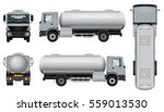 tank truck vector mock up.... | Shutterstock .eps vector #559013530