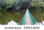 the suspension bridge over the...