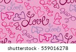 valentine's day pattern with... | Shutterstock .eps vector #559016278