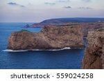 Cliff In Evening Atlantic Ocea...