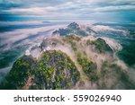 fog on the mountain.wat mongkut ... | Shutterstock . vector #559026940
