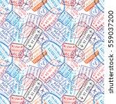 many international travel visa... | Shutterstock . vector #559037200
