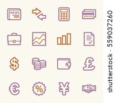 finance web icons set | Shutterstock .eps vector #559037260