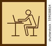 businessman at computer.... | Shutterstock .eps vector #559038814