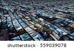 3d rendering. irregular video... | Shutterstock . vector #559039078