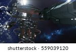 sd rendering. powerful space... | Shutterstock . vector #559039120