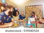 quartet of four good friends... | Shutterstock . vector #559040524