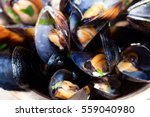 Steamed Mussels In White Wine...