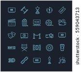 thin line icons   movie  cinema ... | Shutterstock .eps vector #559043713