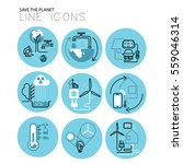thin line ecology icons vector... | Shutterstock .eps vector #559046314