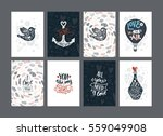 set of valentines day cards... | Shutterstock .eps vector #559049908