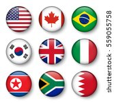 set of world flags round badges ... | Shutterstock .eps vector #559055758