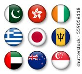 set of world flags round badges ... | Shutterstock .eps vector #559056118