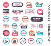 sale shopping stickers and... | Shutterstock . vector #559057000