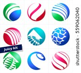 set of colorful vector logotype ... | Shutterstock .eps vector #559062040