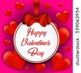 valentines day card with red...   Shutterstock .eps vector #559063954