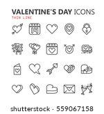 simple modern set of valentines ... | Shutterstock .eps vector #559067158